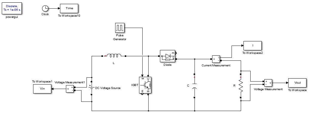 شبیه سازی مبدل افزاینده (Boost Converter)